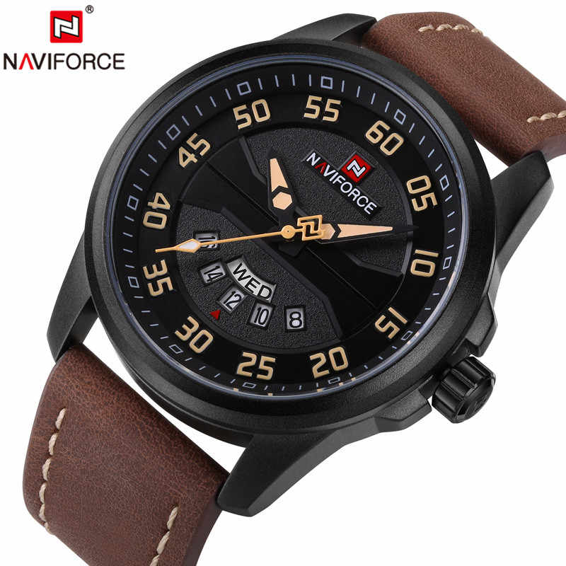 6c183584e7d NAVIFORCE Men Watch Date Week Sport Mens Watches Top Brand Luxury Military  Army Business Genuine Leather