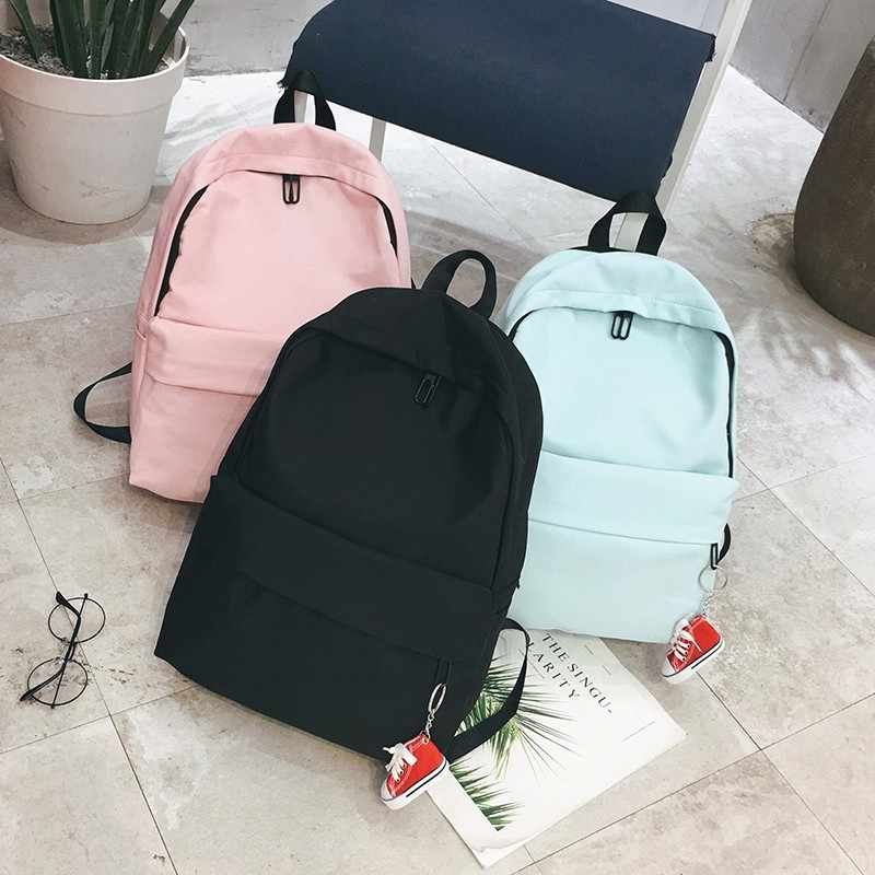 1c9670534b ... School Backpack Women School bag Back Pack Leisure Korean Ladies  Knapsack Laptop Travel Bags for Teenage