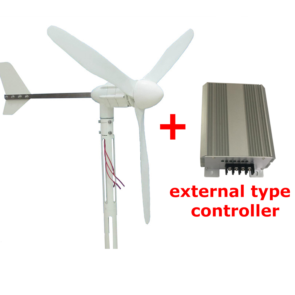 S-800 24v 48v 3 blades 600W Small Wind driven energy turbine Generator external type controller for wind system use in boats maylar new 300w wind turbines wind driven generator for wind system 6 blades ce certificate 90 260vac