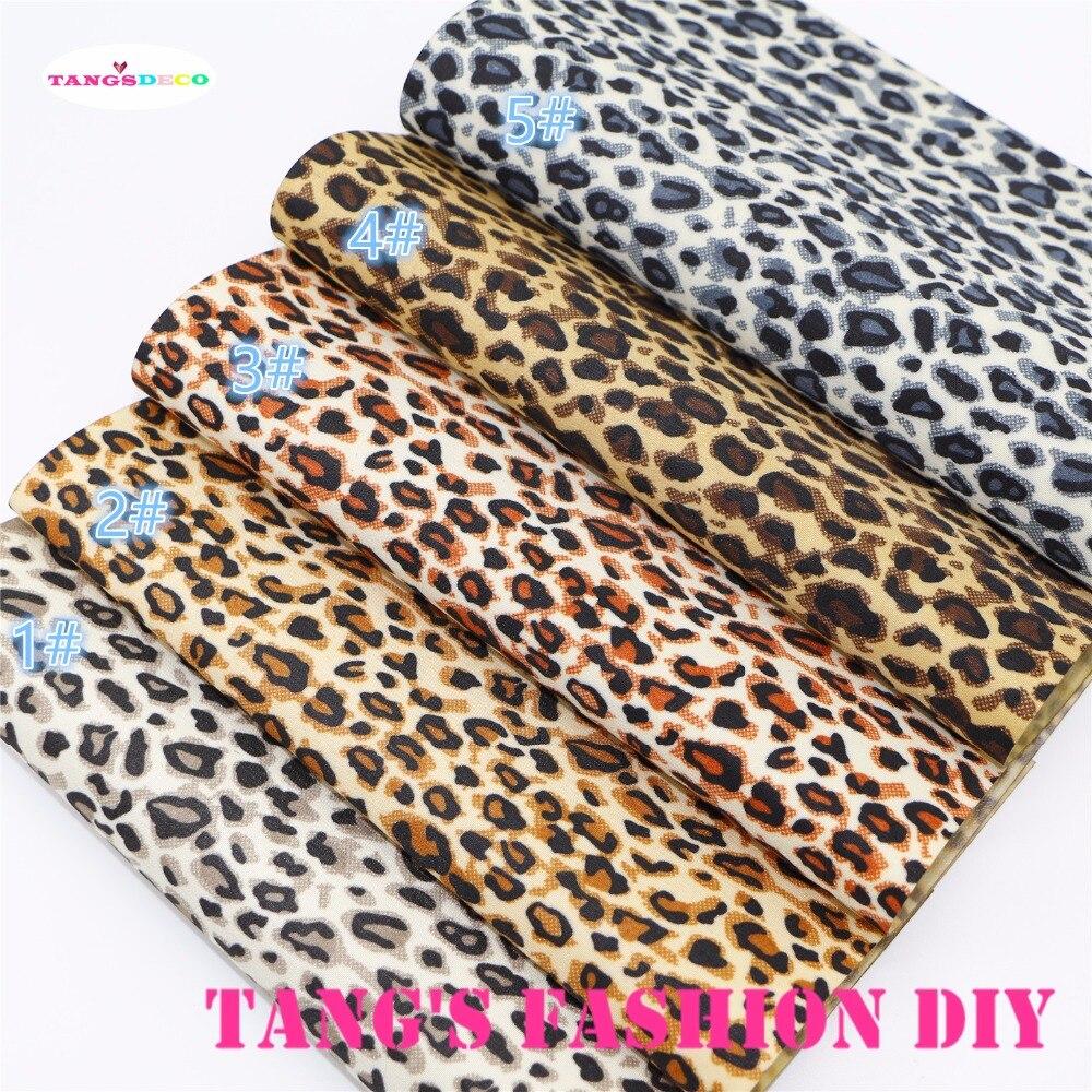 5 шт.-20×22 см маленький Леопардовый принт ПВХ материал кожа/Синтетическая кожа (можно выбрать цвет)