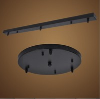 Lamps Chandeliers Base Plate Lighting Accessories Black Or White Round Rectangular Ceiling Base Rose Canopy Plate