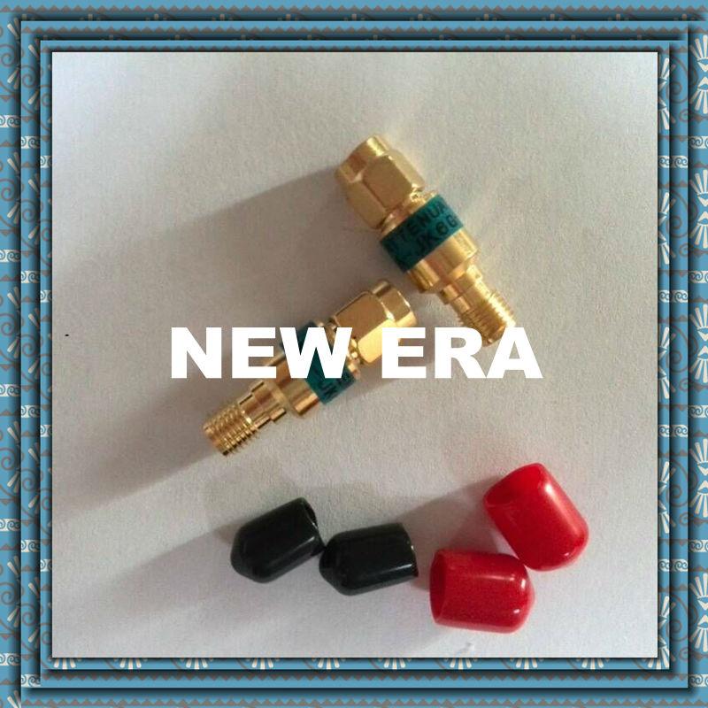 Golden color 2w SMA rf attenuator 6GHz 1db,3db,5db,6db ,10db,15db,20db ,30db r404n01121 rf terminators term sma m 18 ghz 2w w cord mr li