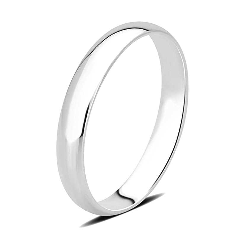 AINUOSHI 14 к однотонное гладкое кольцо из белого/желтого золота классическое обручальное кольцо для мужчин, для влюбленных, кольцо, ювелирное изделие