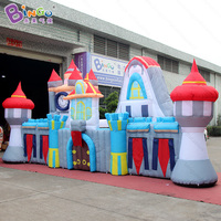 Customized 8X1.8X3.5 meters high inflatable castle / inflatable naughty castle / air castle inflatable toys