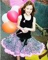 Милый пушистый девочки пачка юбка зебра леопардовый узор кружево винтажный стиль девочки юбка дети юбка 2 - 8 лет