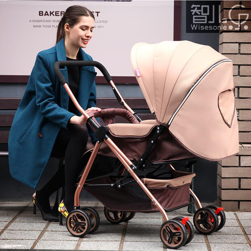Newborn Baby Stroller 3 in 1 Portable Folding Strollers Sit and Lie Four Wheels 2017 Convience Prams Umbrella Stroller 0-3Years коляска 3 в 1 riko re flex 07 фиолетовый