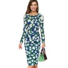 فستان كاجوال أنيق بأكمام طويلة منقوش بزهور الربيع