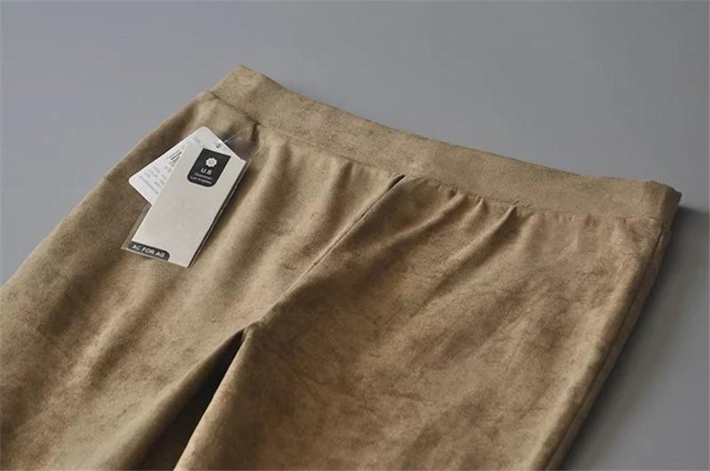 Slim Suede Jeans 12