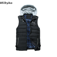 2017 Autumn Winter New Casual Hooded Debardeur Homme Good Quality Knitted Cap Gilet Mens