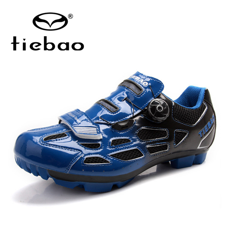 ФОТО Tiebao Self-Locking Breathable Athletic Cycling Shoes Unisex MTB Cycling Shoes Cycling Sport Mountain Biking Shoes PVC Soles