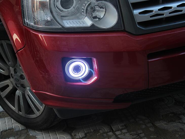 DRL COB angel eye (5 colors) + halogen fog lamp + projector lens + fog lamp cover for LAND ROVER rang rover freelander 2, 2pcs набор фиксаторов для дизельных двигателей land rover 2 5 td5 jonnesway al010231