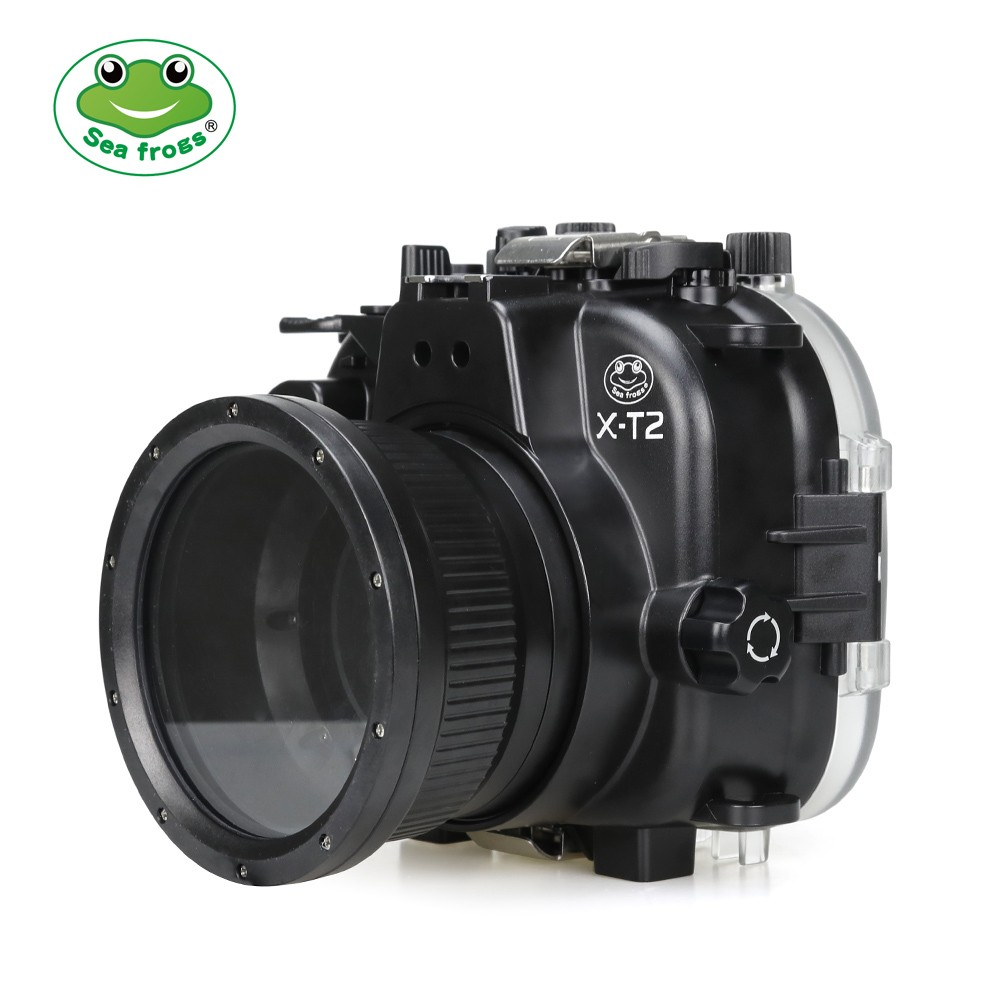 Seafrogs 40m/130ft Underwater Camera Housing Case For Fujifilm X-T2 XT2 with Aluminium Tray Waterproof Camera Bags meikon 40m wp dc44 waterproof underwater housing case 40m 130ft for canon g1x camera 18 as wp dc44