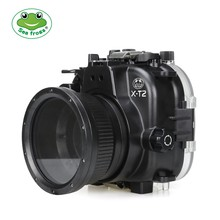 Seafrogs 40m/130ft Underwater Camera Housing Case For Fujifilm X-T2 XT2 with Aluminium Tray Waterproof Camera Bags
