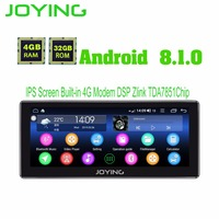 10.25Android 8.1 Universal Car Radio Audio Stereo Head Unit Joying GPS DVD Player Octa Core Intel Built in 4G Modem DSP Zlink