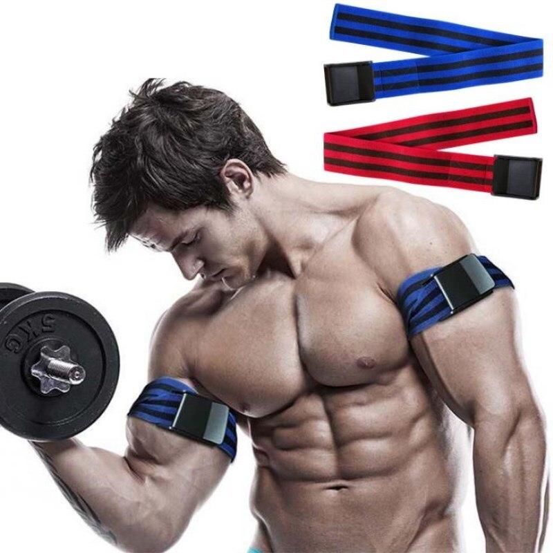 2 יחידות\סט כושר חדר כושר BFR להקות זרוע שרירים תרגיל דם זרימת הגבלה חסימה אימון חגורת גוף-בניין זרוע רצועה