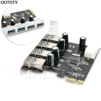 4 Port PCI E To USB 3 0 HUB PCI Express Expansion Card Adapter 5 Gbps