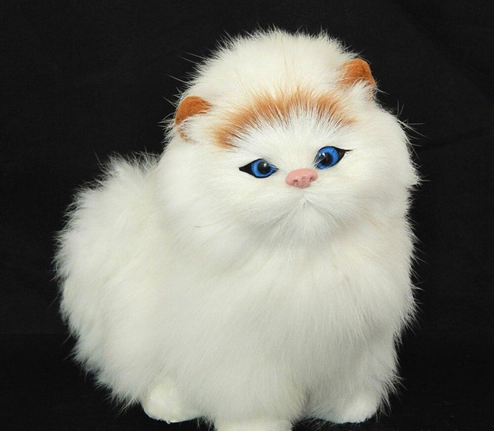 vrais cheveux lectronique animaux chats poup es simulation animal jouet pour chat miaouss. Black Bedroom Furniture Sets. Home Design Ideas