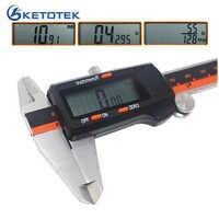 6-Inch 150mm Stainless Steel Caliper Fraction / MM / Inch Electronic Digital LCD Vernier Micrometer Depth Height Tester