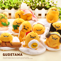1 Unids 10 cm Anime Japonés de Dibujos Animados Perezoso Gudetama Monarca Huevo yema de huevo de juguete de felpa muñeca suave llaveros colgantes de dibujos animados mini toys niños