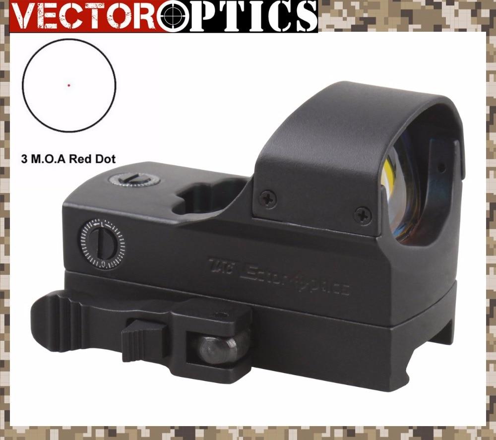 Vector Optics High End 1x22x33 Tactical Rifle 3 MOA Gun Red Dot Sight 66mm 2 6