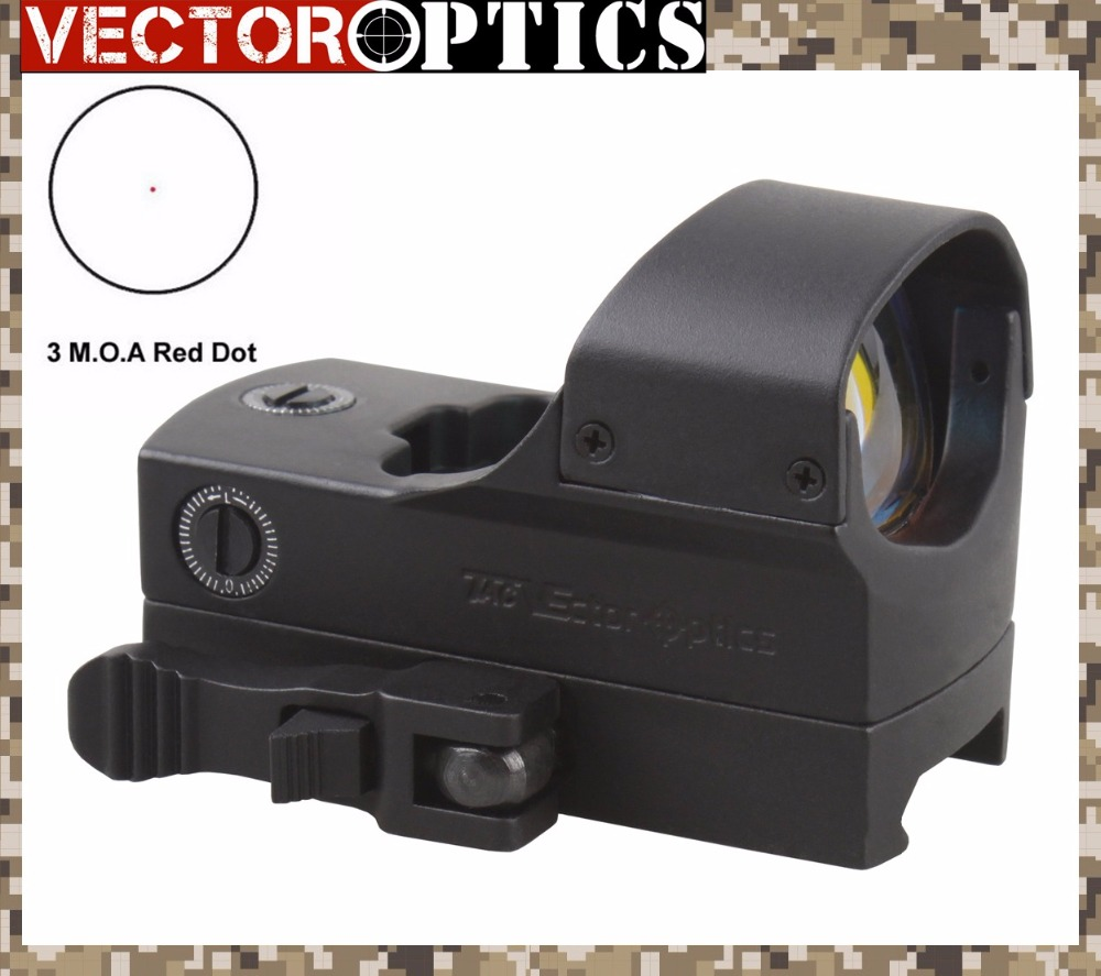 "Vector Optica High End 1x22x33 Rifle tactice 3 MOA Gun Red Dot Sight 66mm 2.6 ""Lungime pentru fotografiere Night Shooting"