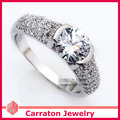 Carraton RSQD1056 High Grade CZ Diamond Splendid Big Solid 925 Silver Ring