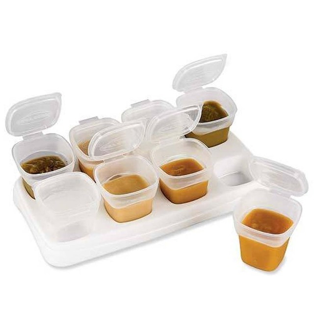 Baby Food Plastic Storage Containers Lunch Bow BPA Free Organizing