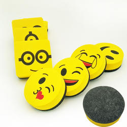 2 шт. желтый улыбка уход за кожей лица Ластик для доски магнитная доска ластики протрите сухой школы доска очиститель маркера 6 разные стили