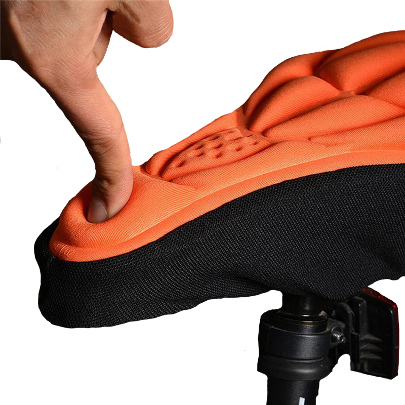 Mountain Bike 3D Saddle Seat Cover Soft Bicycle Thick Silicone Sponge Cushion