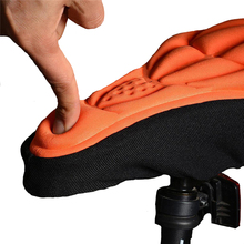 Mountain bike 3D cushion cover bicycle cushion bicycle thick silicone sponge cushion soft saddle equipment accessories seat цена