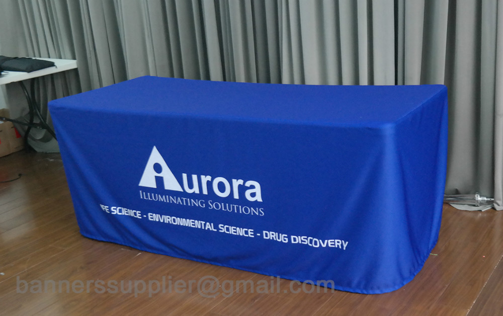 custom print table clothes, table cover, fitted table cloth (open back)
