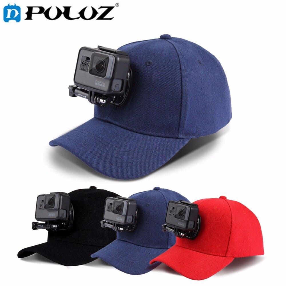 PULUZ Adjustable Canvas Baseball Hat Cap W J Hook Buckle Mount Screw for GoPro HERO5 HERO4