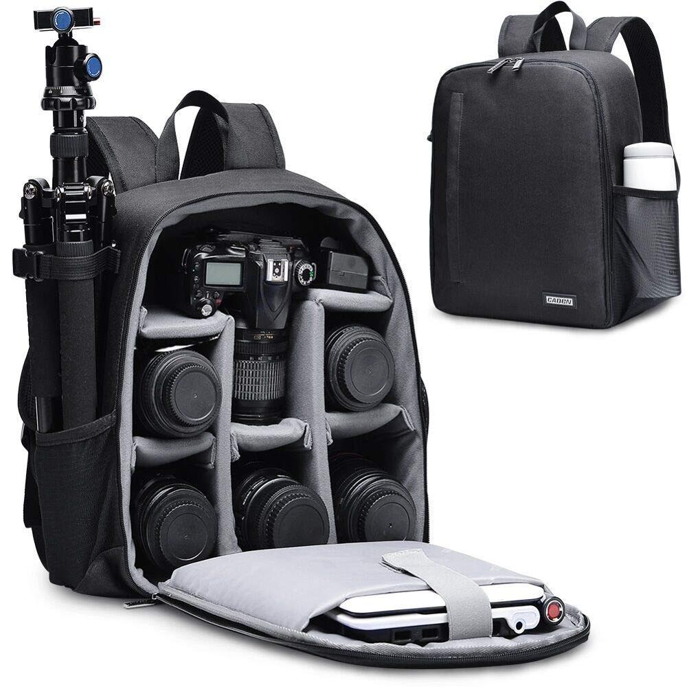 CADeN Multi functional Camera Backpack Video Digital DSLR Bag Waterproof Outdoor Camera Photo Bag Case for Nikon/ Canon DSLR-in Camera/Video Bags from Consumer Electronics