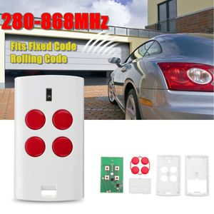 4 Button Universal Garage Door Multi Remote 280-868MHz Fits Fixed Rolling Code Red