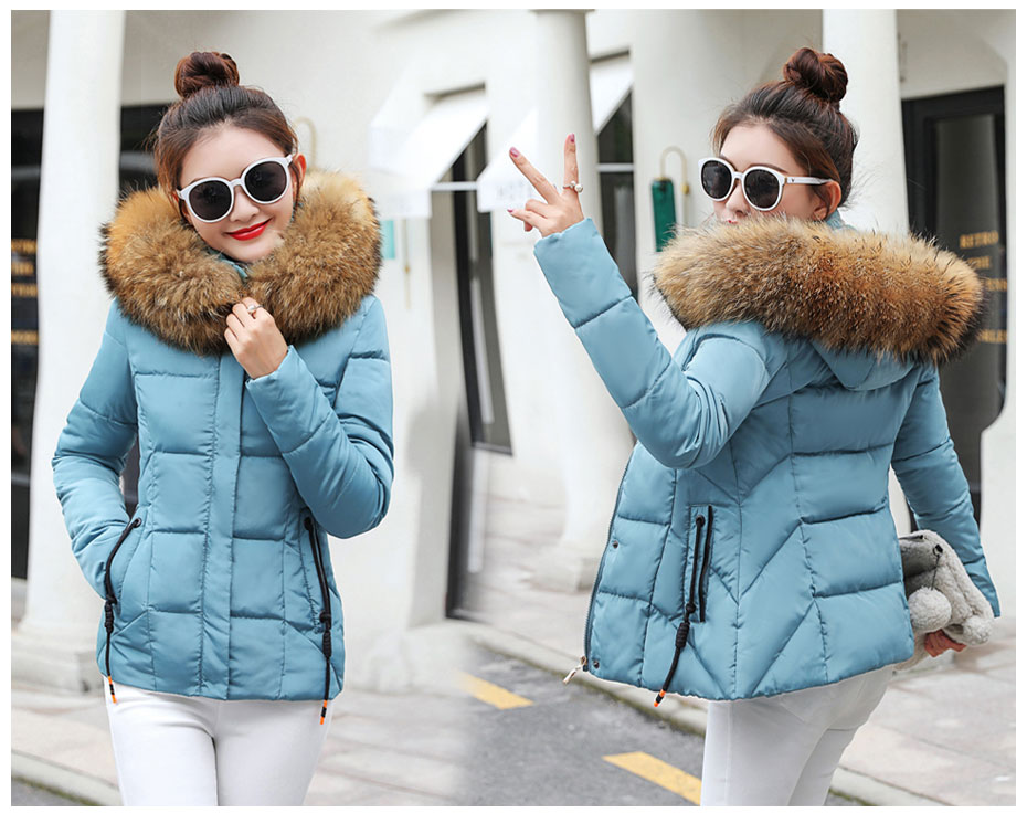 HTB14OpnFH5YBuNjSspoq6zeNFXa1 2019 Winter Jacket women Plus Size Womens Parkas Thicken Outerwear solid hooded Coats Short Female Slim Cotton padded basic tops