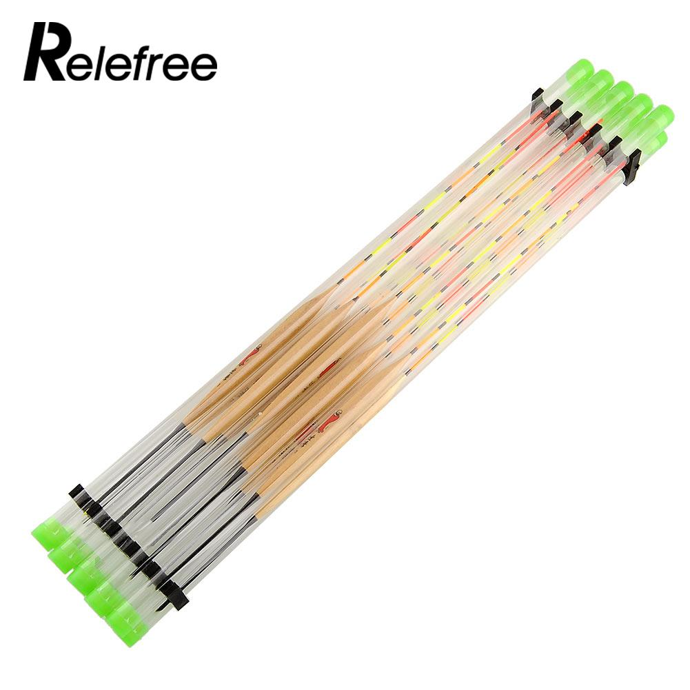 Relefree 10Pcs/Lots  Fish Float Wood Fishing Float Tackle Tools For Fishing Tank Flotteur Peche Float Fishing Tackle Tools sony kd 49xd7005