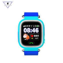 Q90 Fashion Children GPS Smart Phone Watch Color Touch Screen WIFI LBS Positioning SOS alarm clock  kid wrist Watch Free gifts zgpax pg88 gsm watch phone w 1 44 lcd screen quad band gps positioning and sos black silver