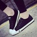 A senhora deputada vitória Sapatas de Lona Das Mulheres Da Forma Ocasional Das Senhoras Design Clássico Mulher zapatos mujer Sapatos Casuais Estrela Da Marca de Sapatos Casuais