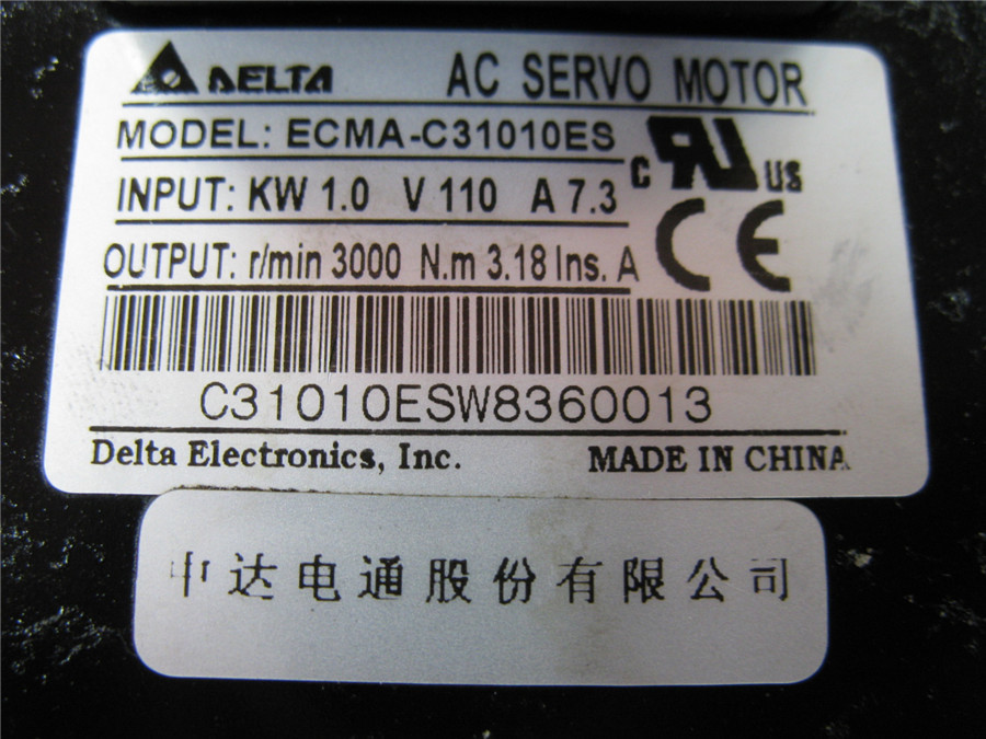 ECMA-C31010ES+ASD-A1021-AB DELTA 1kw 3000rpm 3.18N.m ASDA-AB AC servo motor driver kits with 3m power and encoder cable new original delta ecma c30602es ab 200w servo driver warranty for 1 year