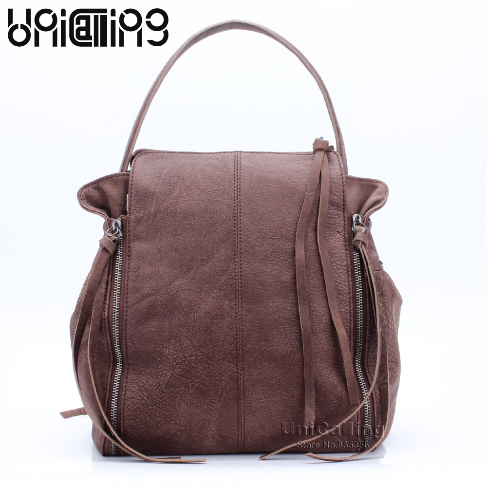 Vintage dull polish real cow leather women shoulder bag large capacity genuine leather casual women bag female leather tote bag hahmes 100% genuine leather women bag women fashion design handbag female casual tote real cow leather shoulder bag 35cm 10541