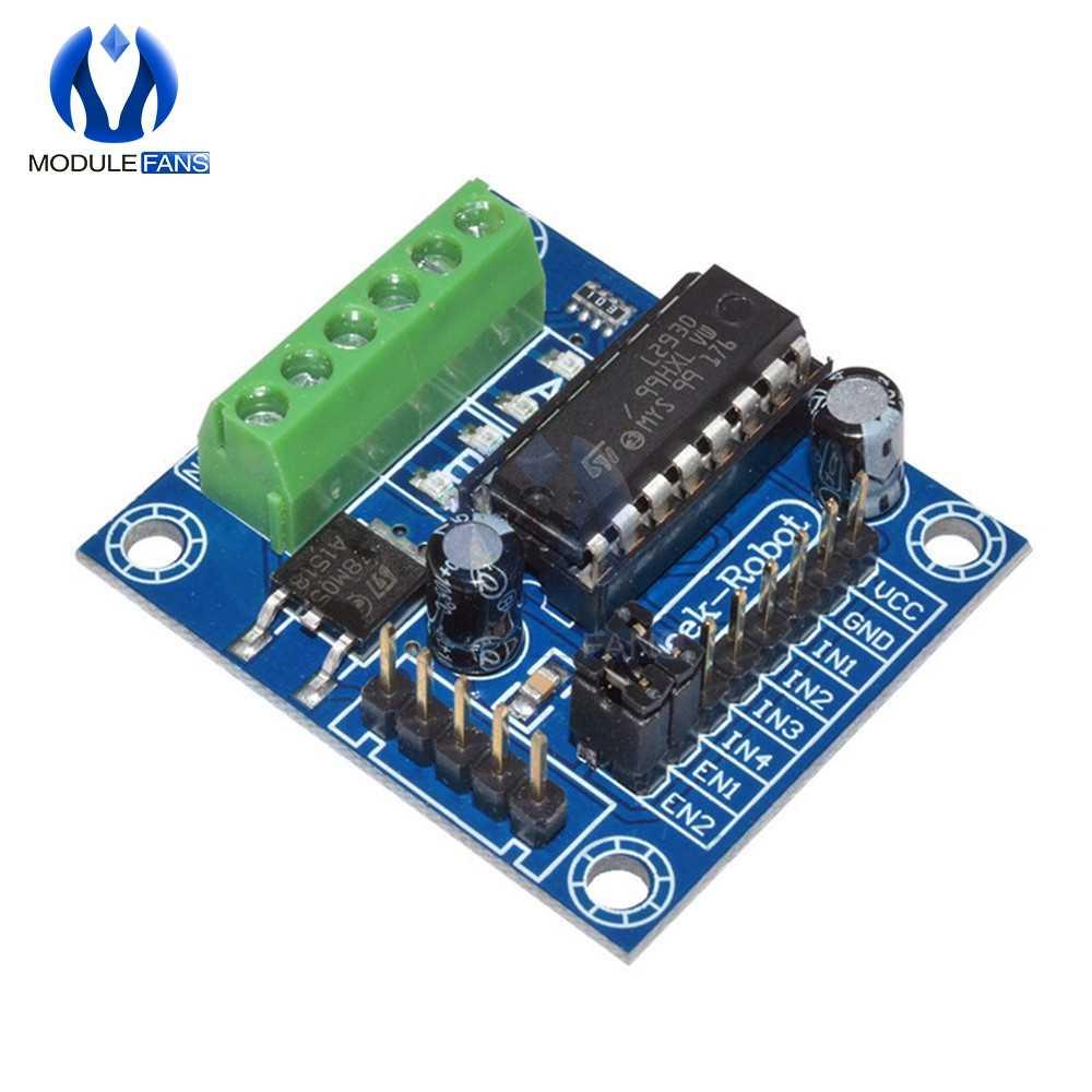 L293D Mini Module de carte d'extension de bouclier d'entraînement de moteur de 4 canaux CH Module de courant à haute tension pour Arduino UNO MEGA 2560 MEGA2560