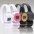 Zealot n65 mp3 digital wireless headband headphone fone de ouvido estéreo de música jogador Rádio FM Slot Para Cartão Sd com Display LCD para telefone