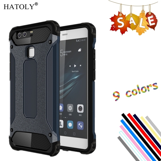 quality design df3ab 6f0a6 US $2.68 37% OFF|HATOLY Cover Huawei P9 Case Silicone Rubber Armor  Protective Hard Back Phone Case For Huawei P9 Cover For Huawei P9 <-in  Fitted Cases ...