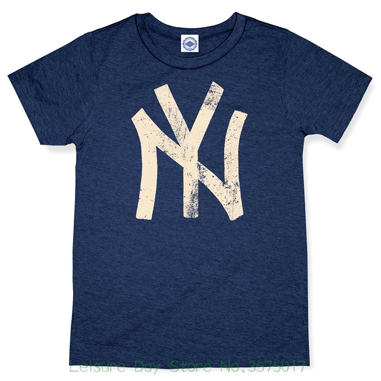 O-neck Oversize Style Tee Shirts Styles Hank Player n.y. ( New York ) Brush Logo Mens T-shirt