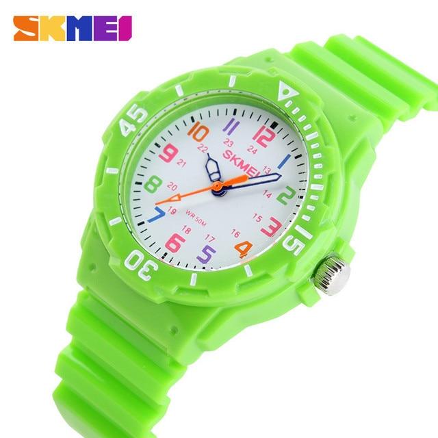 SKMEI Sports Kids Children Watches Cartoon Silicone Quartz Cute Watch For Boy&Girl Sudent Swimming Wristwatch New 2015 Hot Sell
