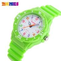 SKMEI Sports Kids Children Watches Cartoon Silicone Quartz Cute Watch For Boy Girl Sudent Swimming Wristwatch