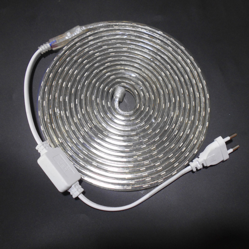 LED Strip Light SMD 5050 AC 220V LED Strip Flexible Light 1M/2M/3M/4M/5M/6M/7M/8M/9M/10M/15M/20M +Power Plug,60leds/m 230V 240V