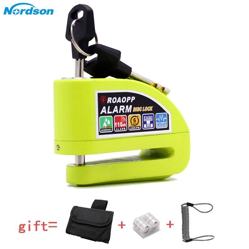 Nordson 110dB Motorcycle Alarm Lock Motorbike Anti-theft Alarm Wheel Disc Brake Security Safety Siren Lock For Harley YAMAHA