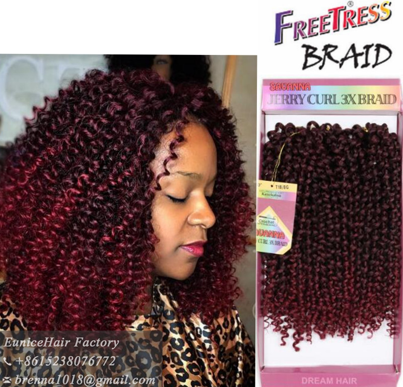 New Burgundy Bug Ombre Color Freetress Bohemian Hair Synthetic Extensions Glance Bahama Curl Deep Wave Braiding On Aliexpress Alibaba