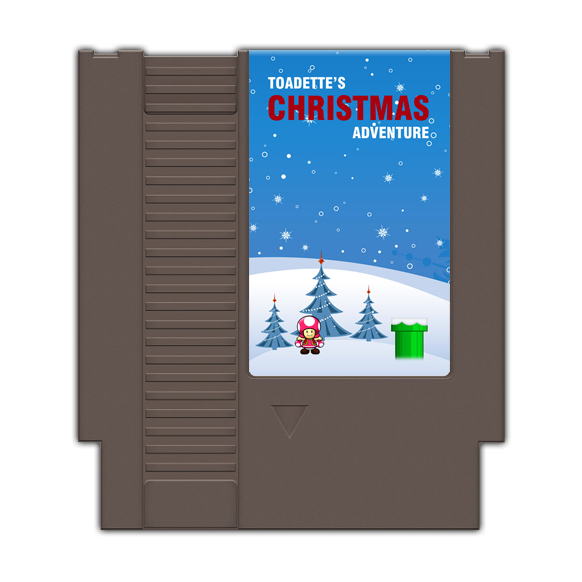 Toadettes Christmas Adventure Game Card For 72 Pin 8 Bit Game Player
